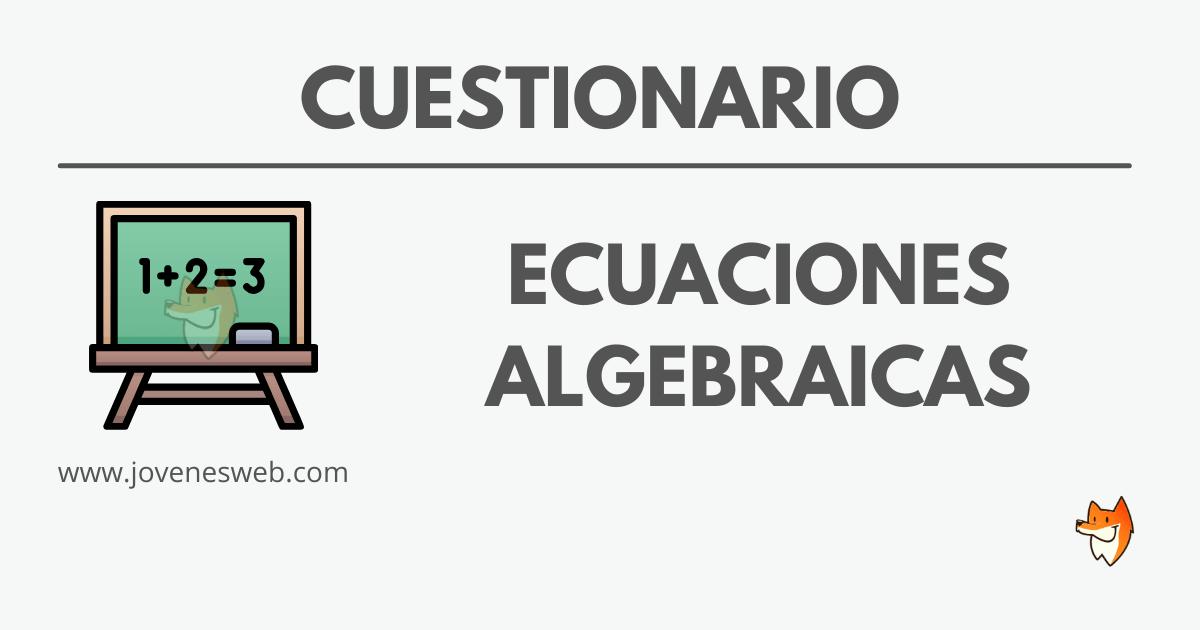 Ecuaciones Algebraicas