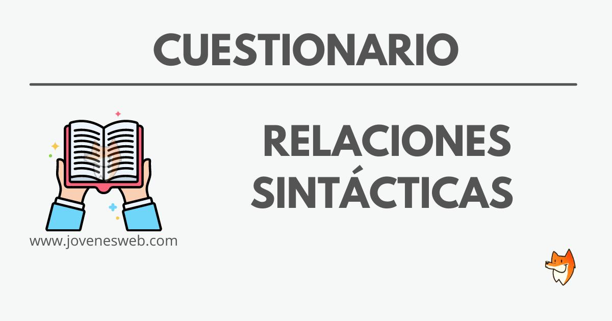 Relaciones Sintácticas - Plataforma Jóvenes